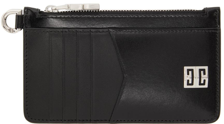 Black 4G Zipped Card Holder