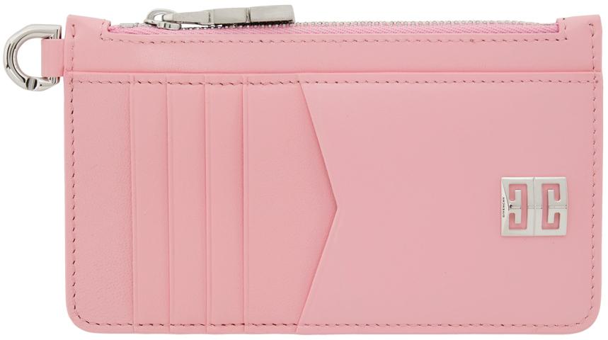 Pink 4G Zipped Card Holder