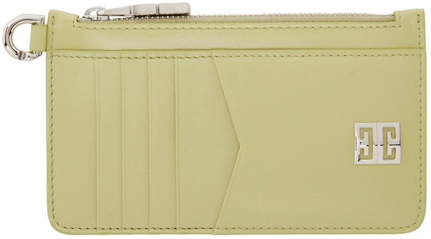 Green 4G Zipped Card Holder