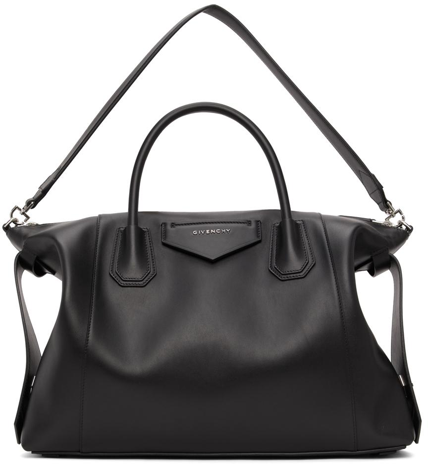 Black Medium Antigona Soft Bag