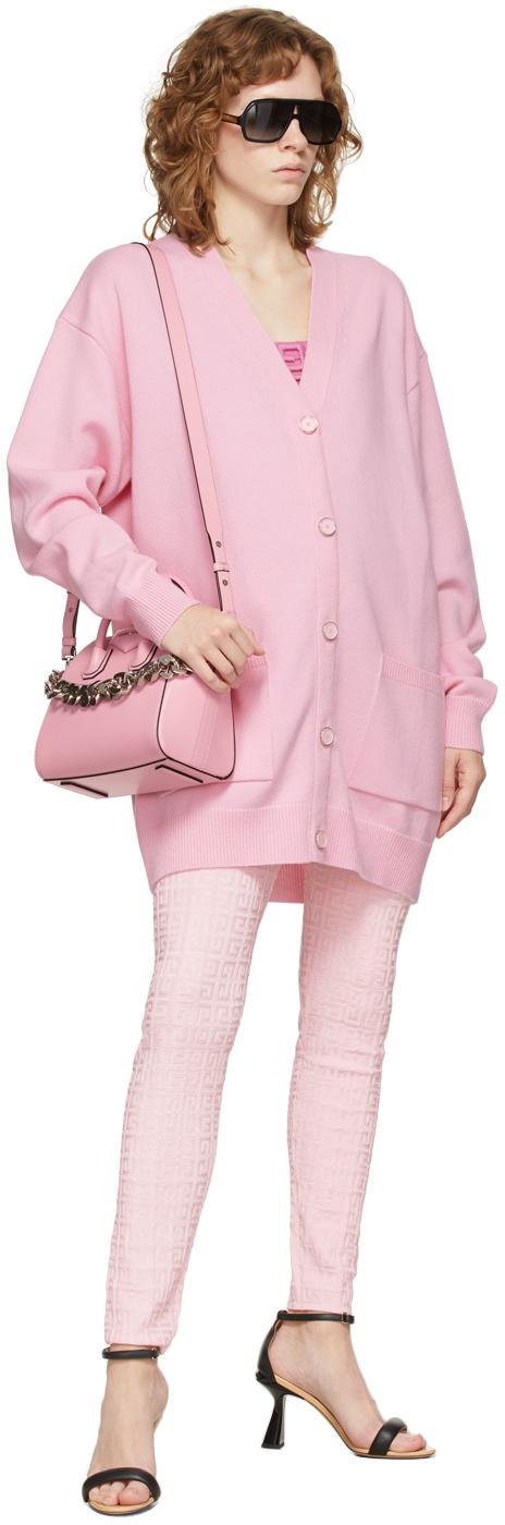 Givenchy ピンク カシミア & ウール カーディガン