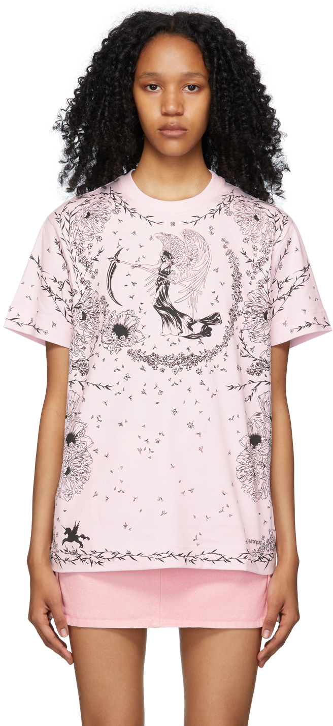 Givenchy ピンク Gothic T シャツ
