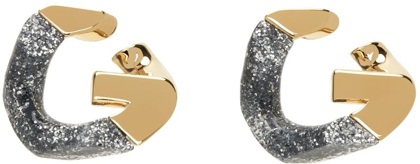 Gold Two-Tone G Chain Earrings