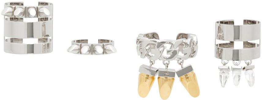 Silver G-Stud Ring Set