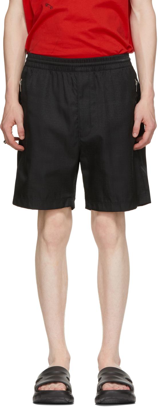 Black Nylon Logo Shorts