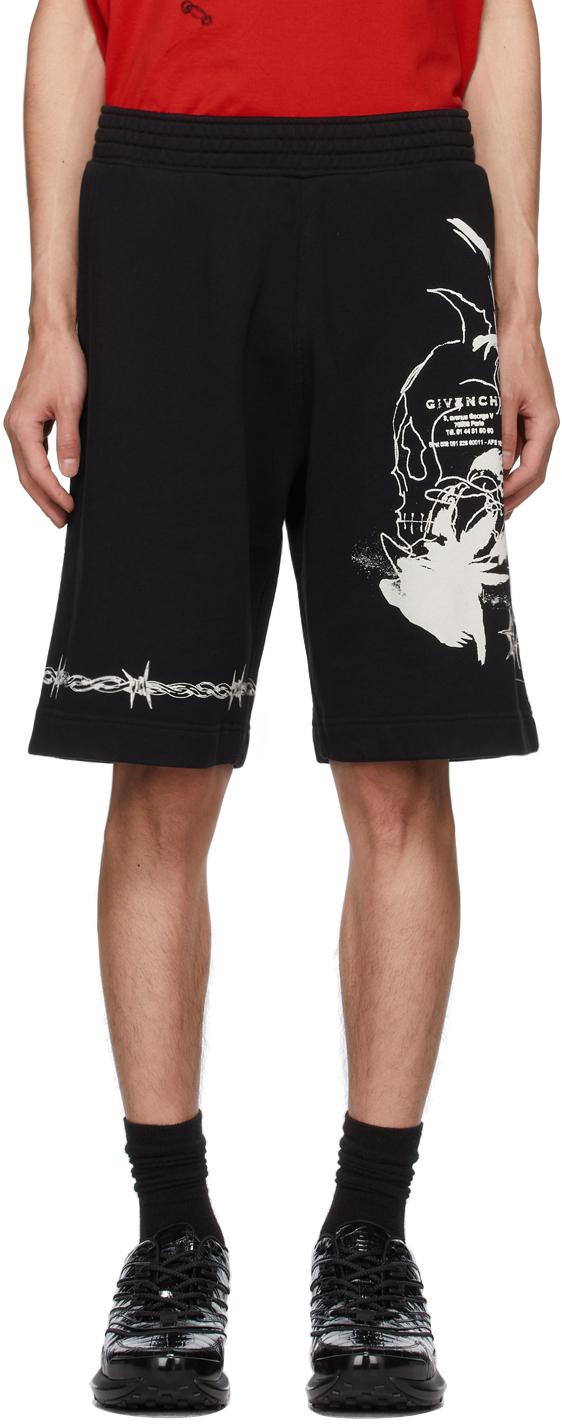 Black Basic Sweatshirt Shorts