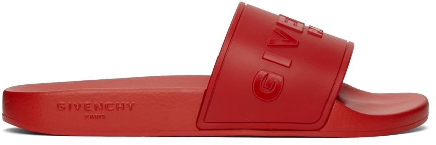 Red 'Paris' Flat Sandals