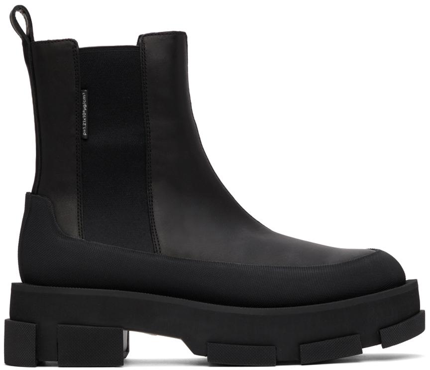 Black Platform Gao Chelsea Boots