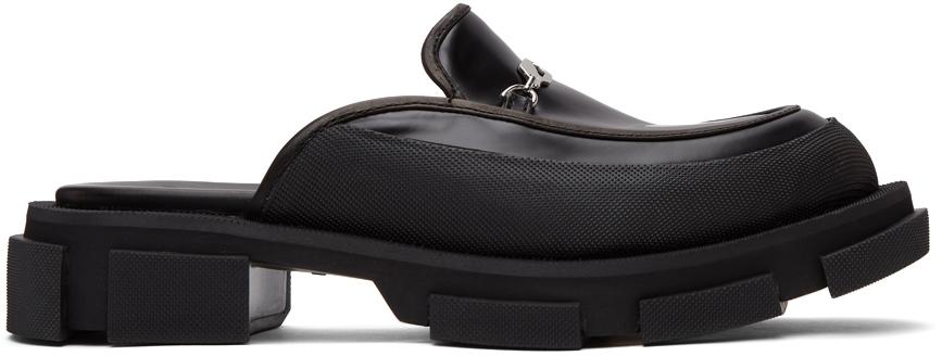 Black Gao Mule Loafers