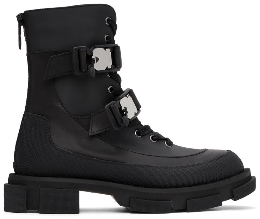 Black Harness Boots
