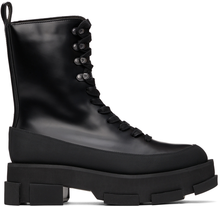 Black Gao Platform Boots