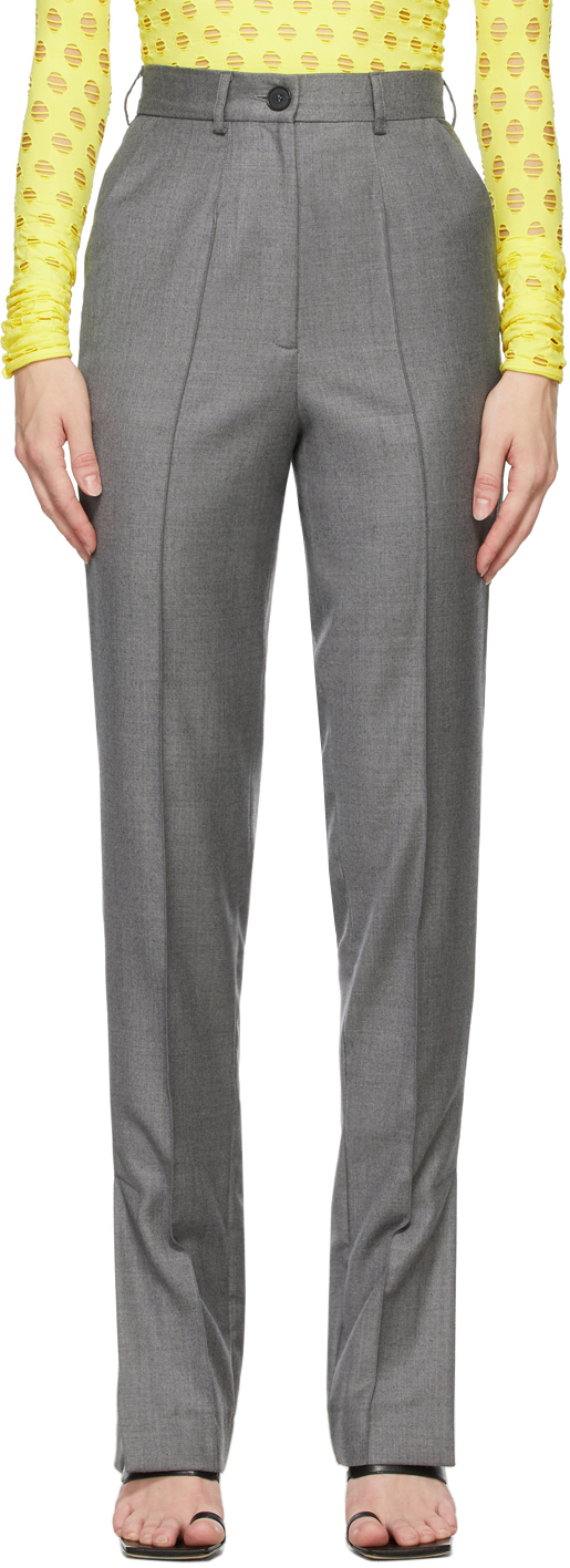Matériel Tbilisi Grey Side Slit Trousers