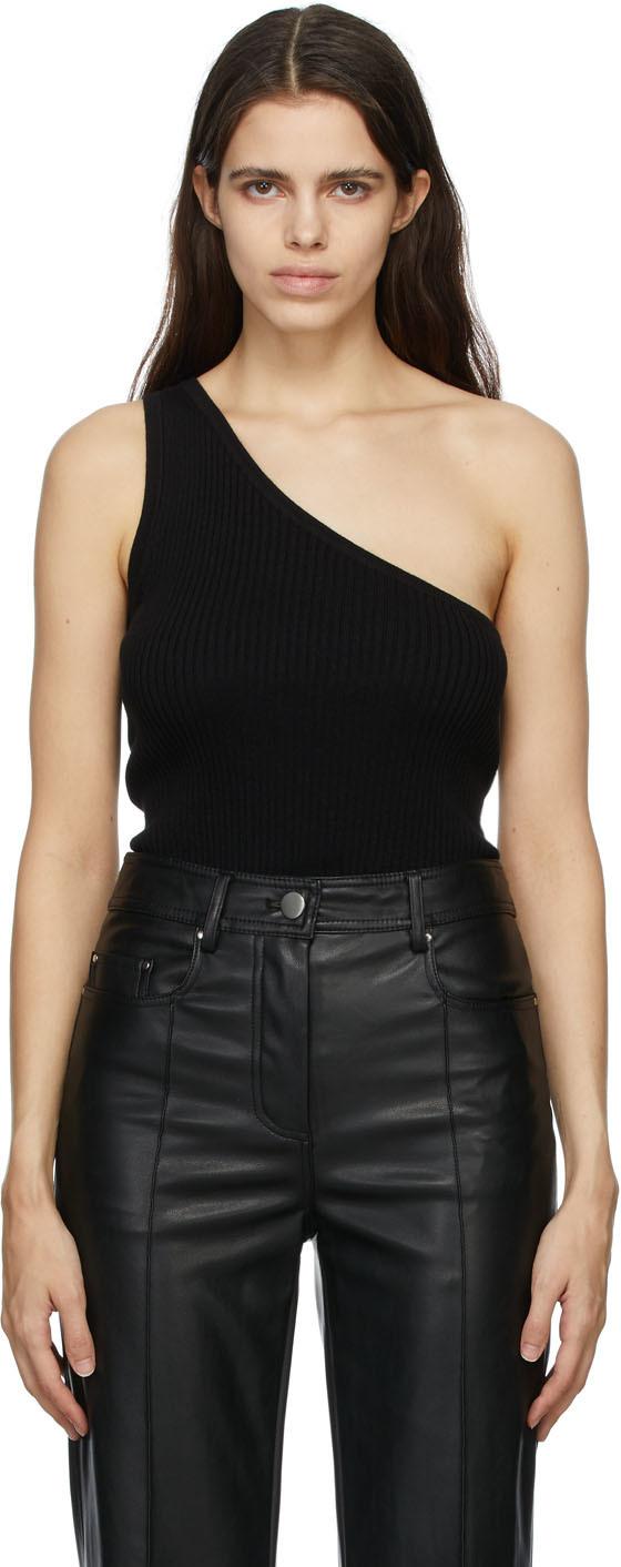 Matériel Tbilisi SSENSE Exclusive Black Cashmere Single-Shoulder Tank Top