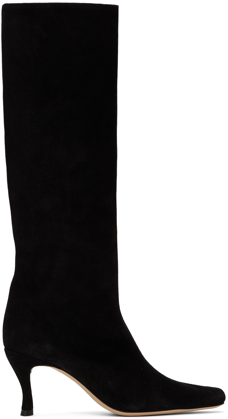 Black Suede Stevie 42 Tall Boots