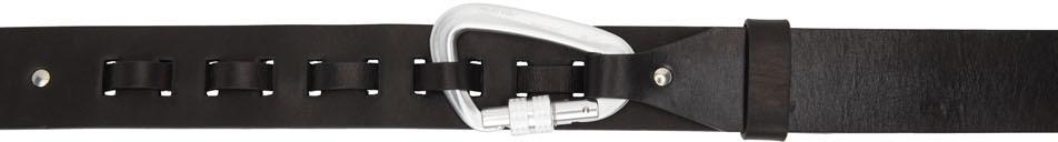 Black Leather Carabiner Belt