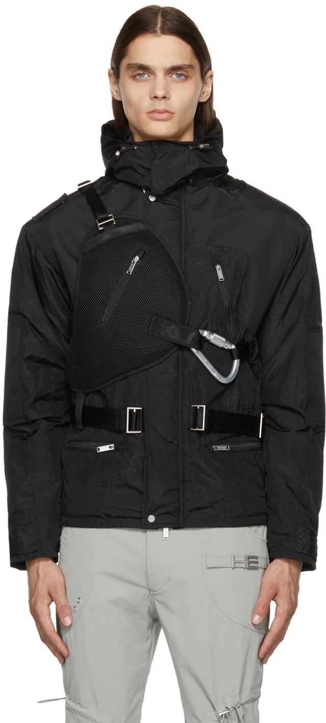 Black Padded Nylon Jacket
