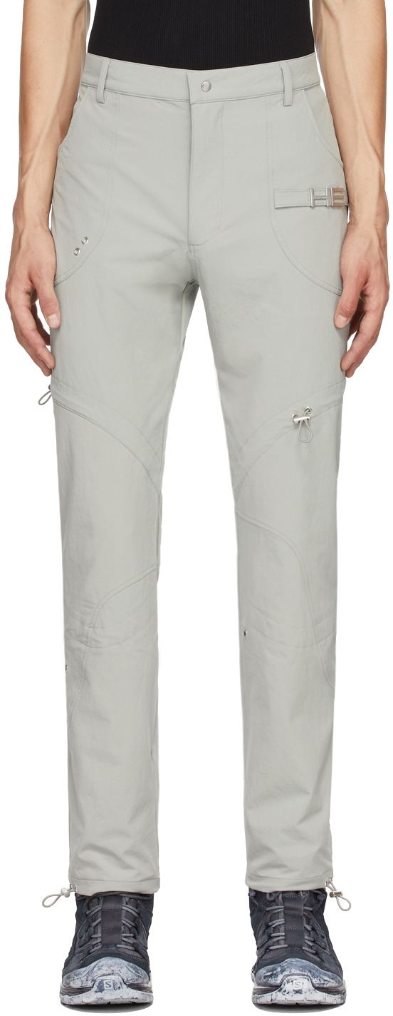 Grey Paneled Cargo Pants