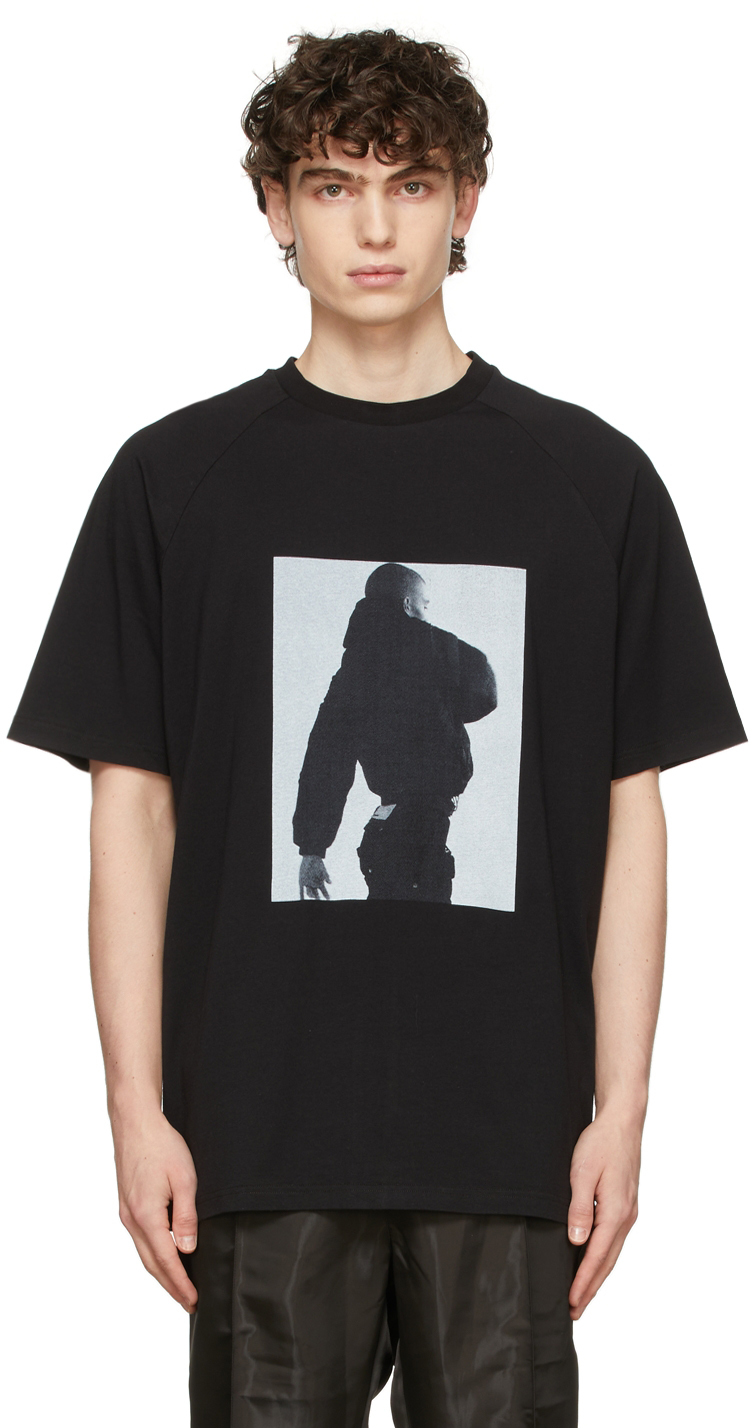 Black Seasonal Print Raglan T-Shirt