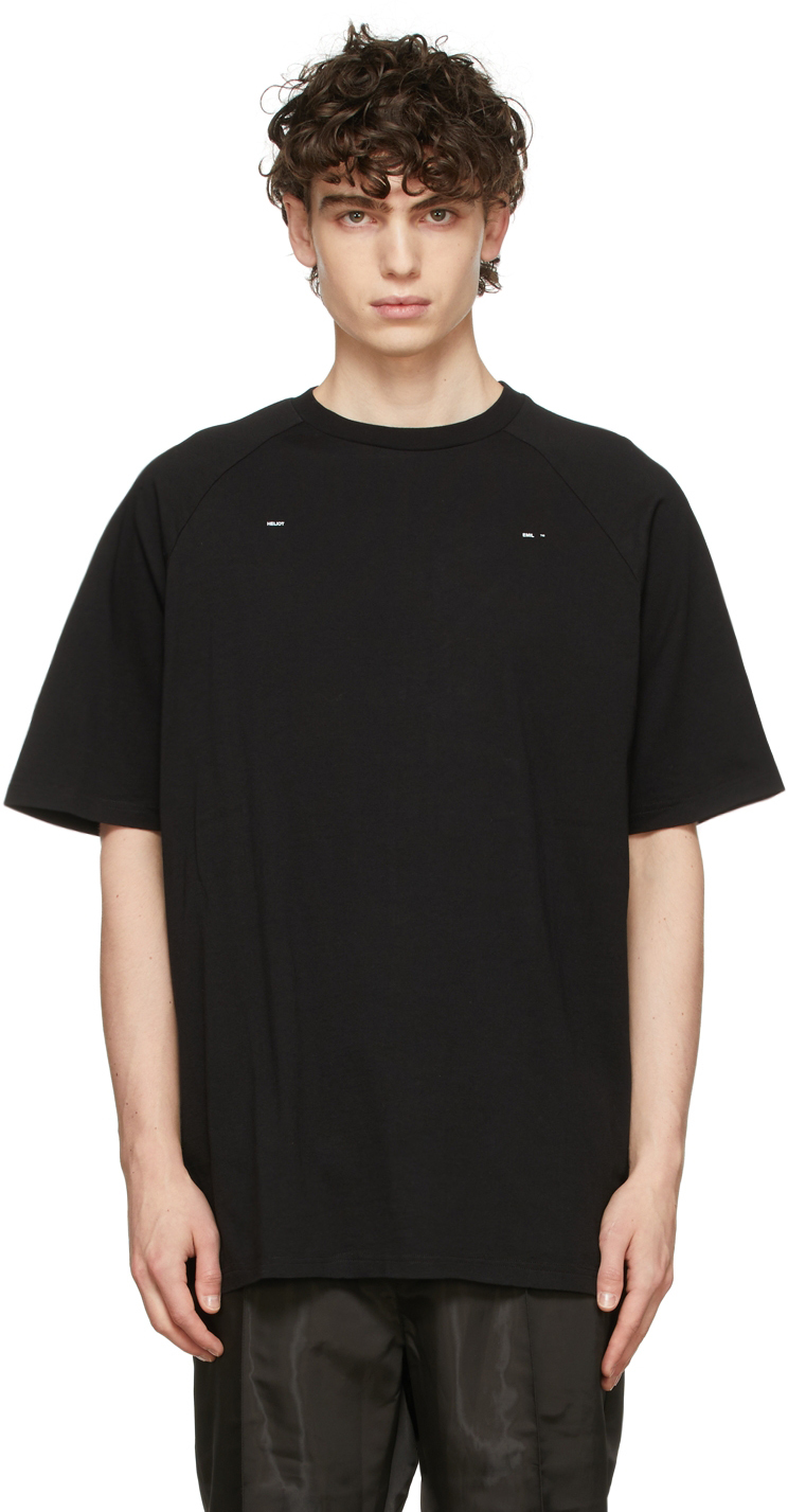 Black Logo Raglan T-Shirt