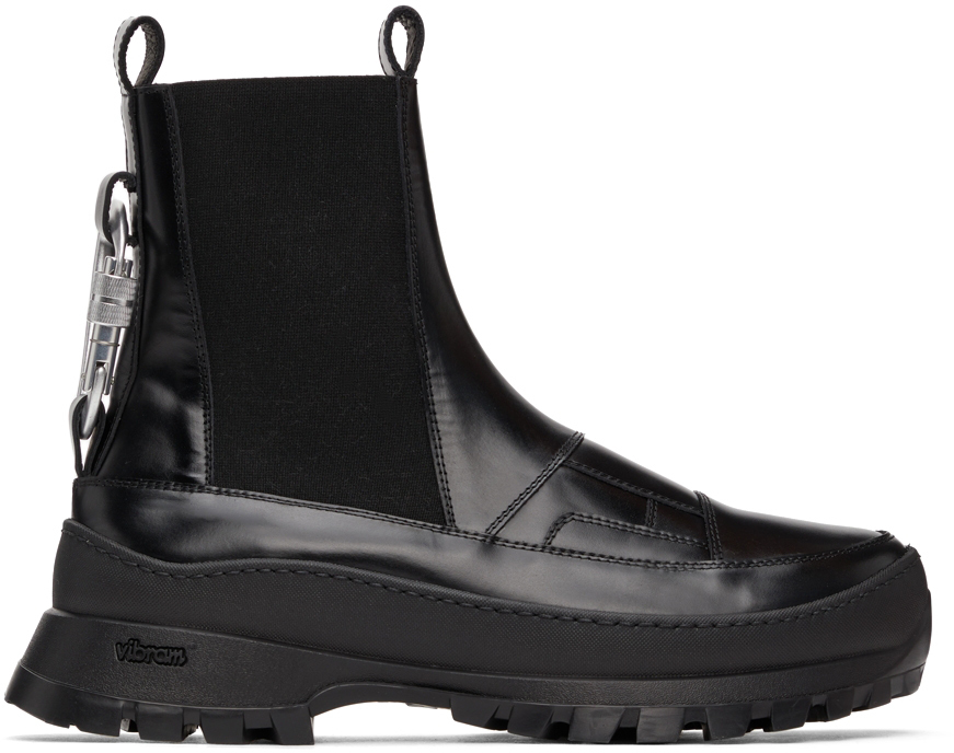 HELIOT EMIL Black Leather Chelsea Boots