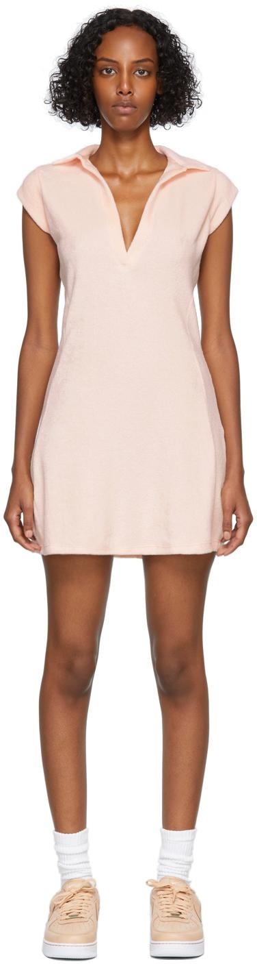 SSENSE Exclusive Pink Terry Half-Zip Coco Tennis Dress