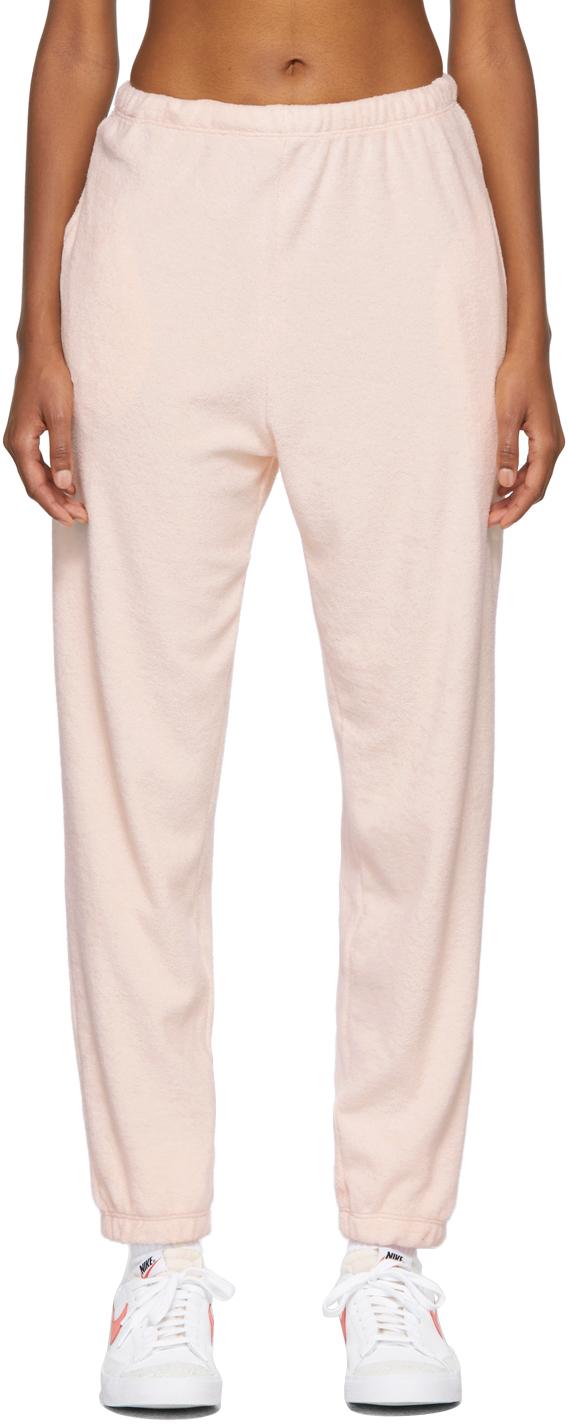 SSENSE Exclusive Pink Terry Beachwood Lounge Pants