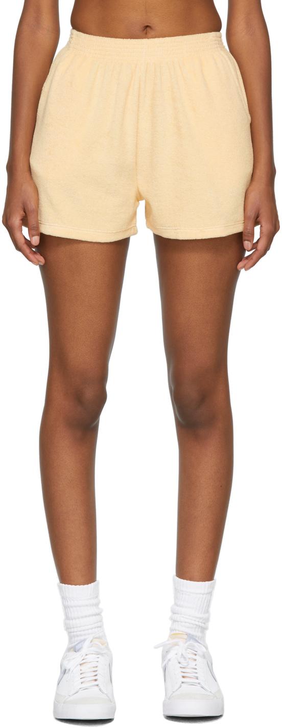 SSENSE Exclusive Orange Terry Port Shorts