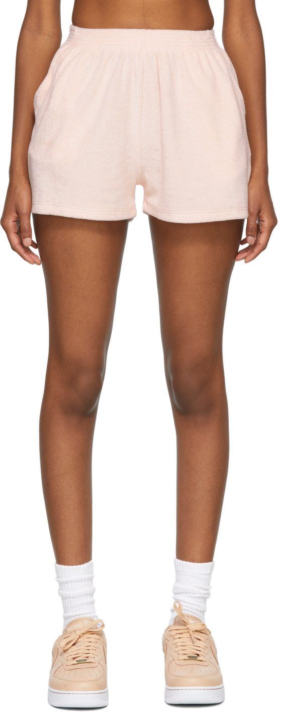 SSENSE Exclusive Pink Terry Port Shorts