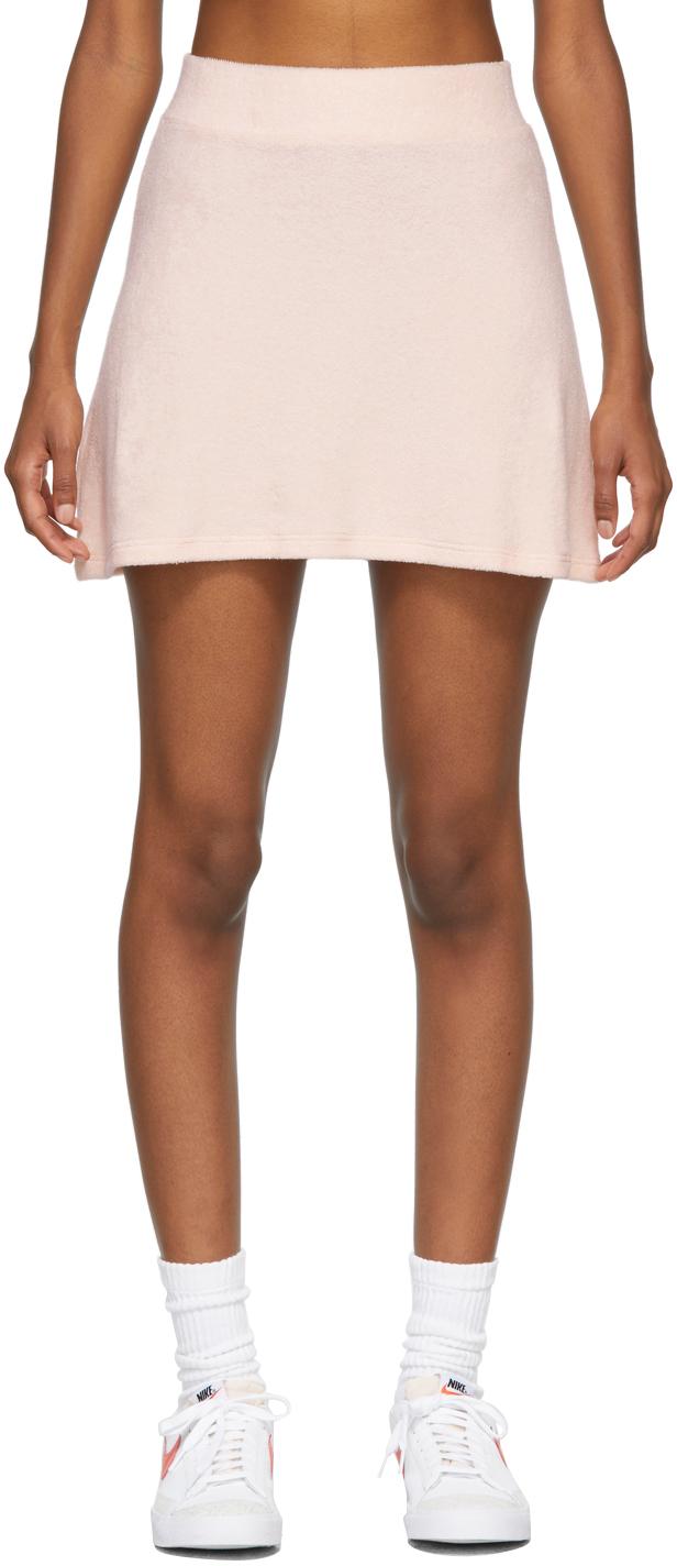SSENSE Exclusive Pink Terry Tennis Skirt