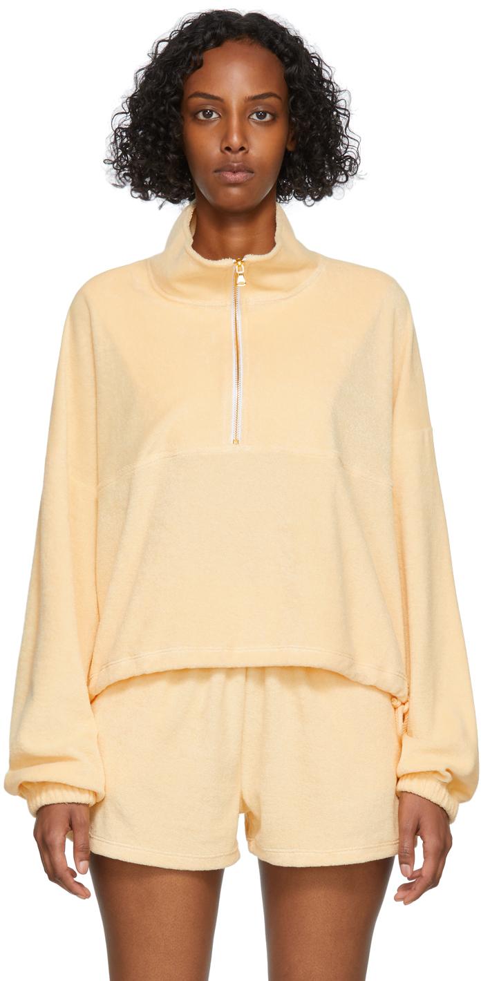 SSENSE Exclusive Orange Terry Half-Zip Diana Sweater
