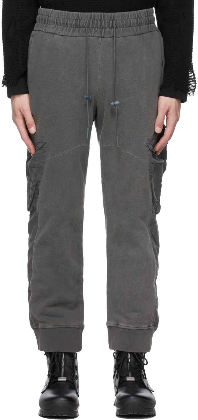 SSENSE Exclusive Grey Paneled Lounge Pants