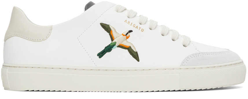 White & Off-White Clean 90 Triple Bee Bird Sneakers