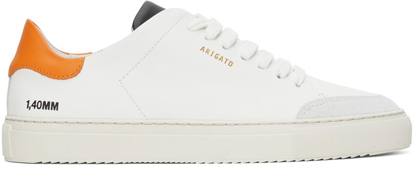 White & Orange Clean 90 Triple Sneakers