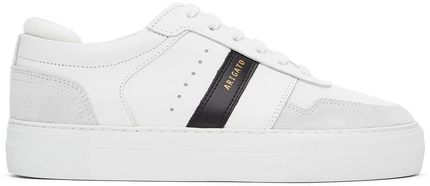 White & Black Detailed Platform Sneakers