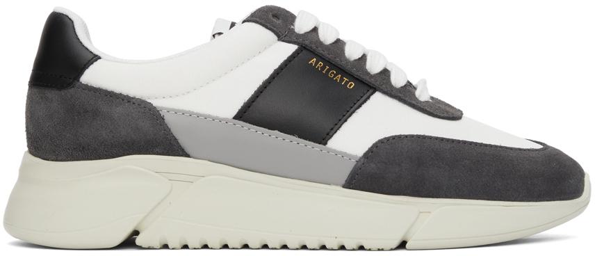 Grey & White Genesis Vintage Runner Sneakers