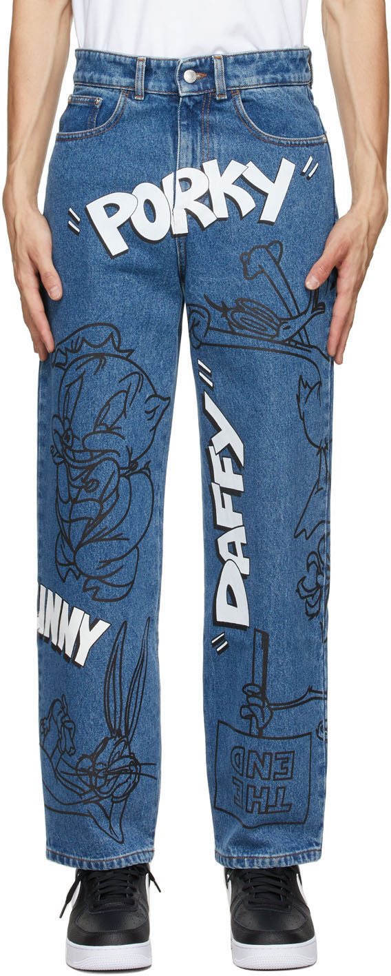 Blue Looney Tunes Edition Ultrawide Jeans