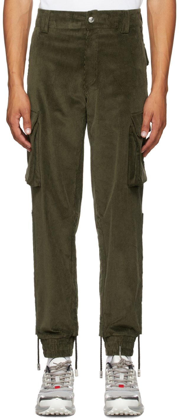 Khaki Corduroy Cargo Pants