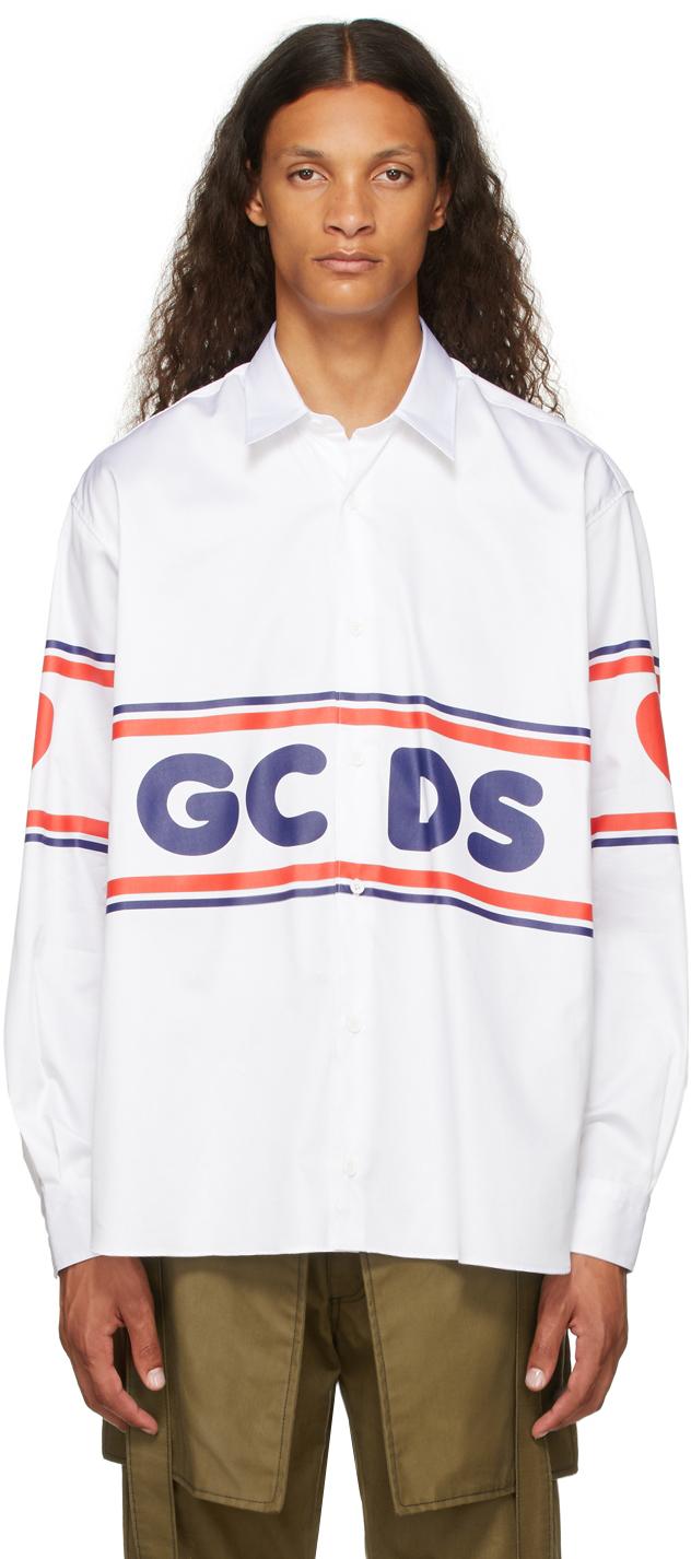 White Poplin Logo Shirt