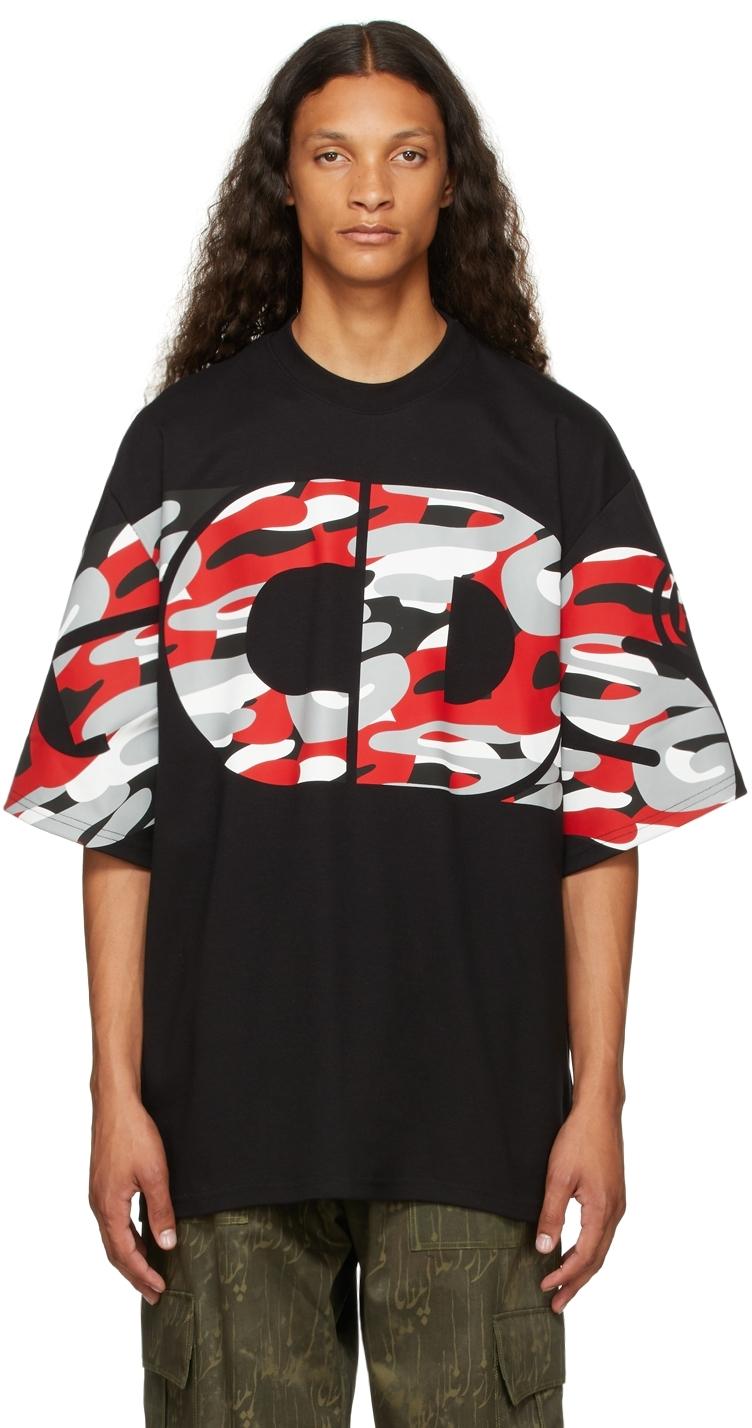 Black Oversized Camo T-Shirt