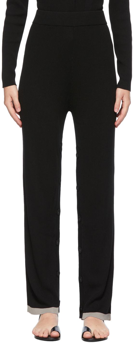 Black Deconstruct Lounge Pants