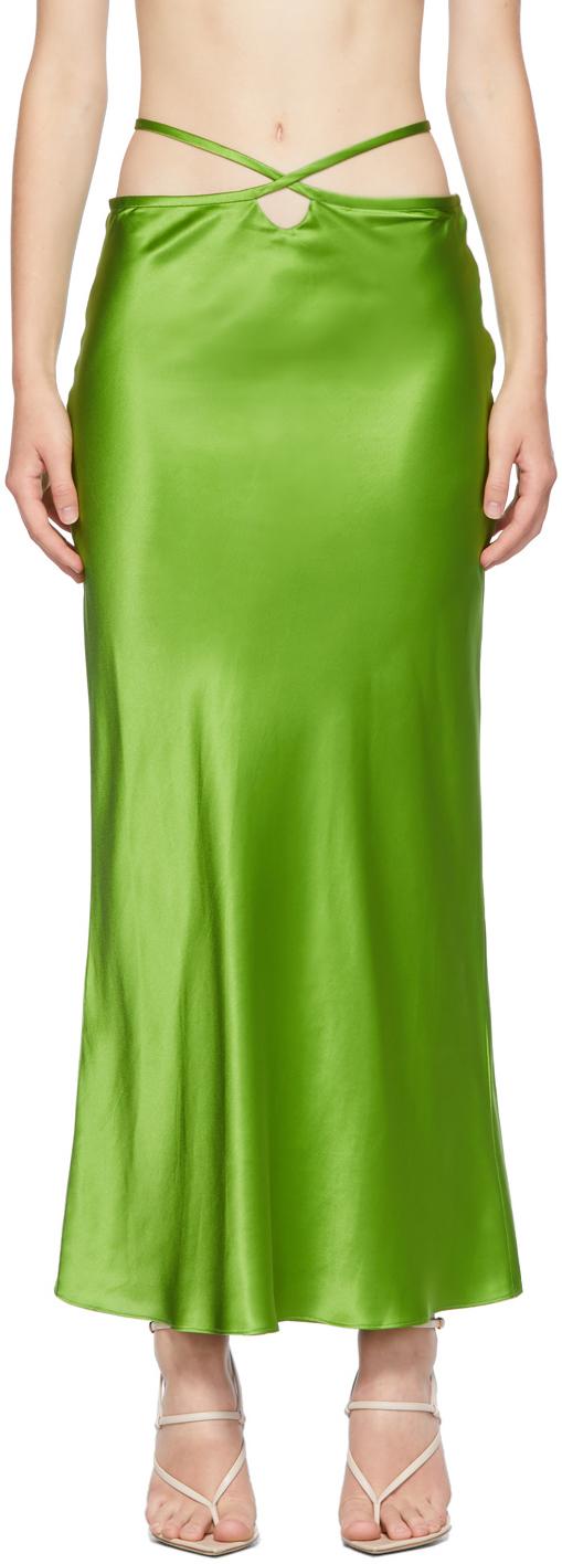 Green Loophole Bias Skirt