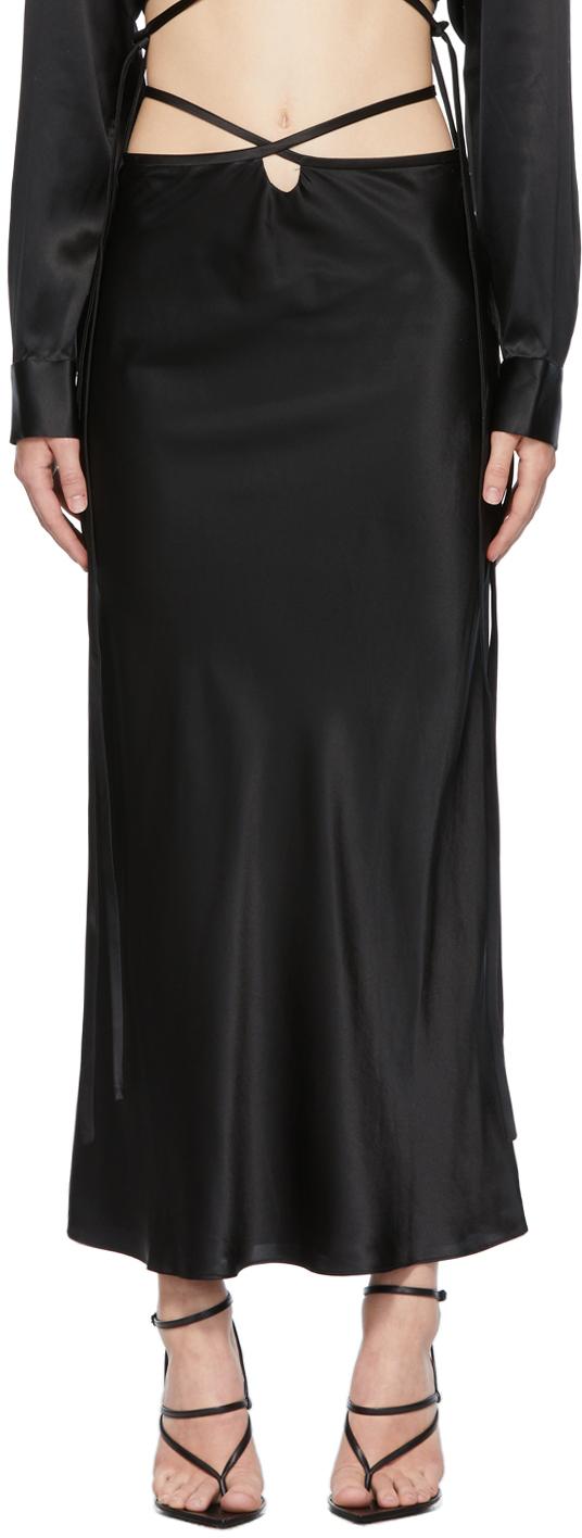 Black Loophole Bias Skirt