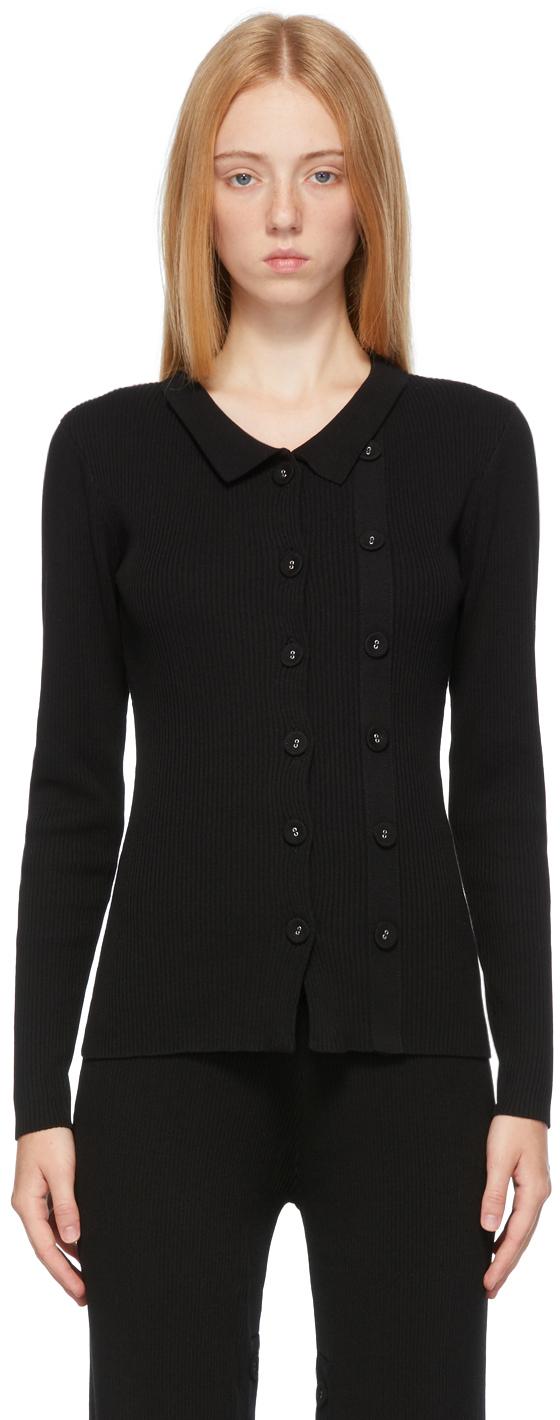 Black Double Button Cardigan