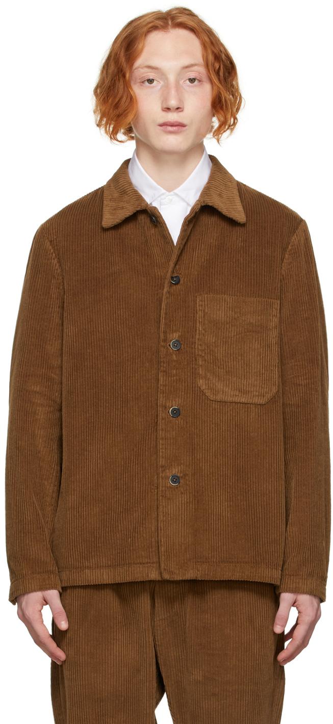 Brown Corduroy Overshirt Jacket