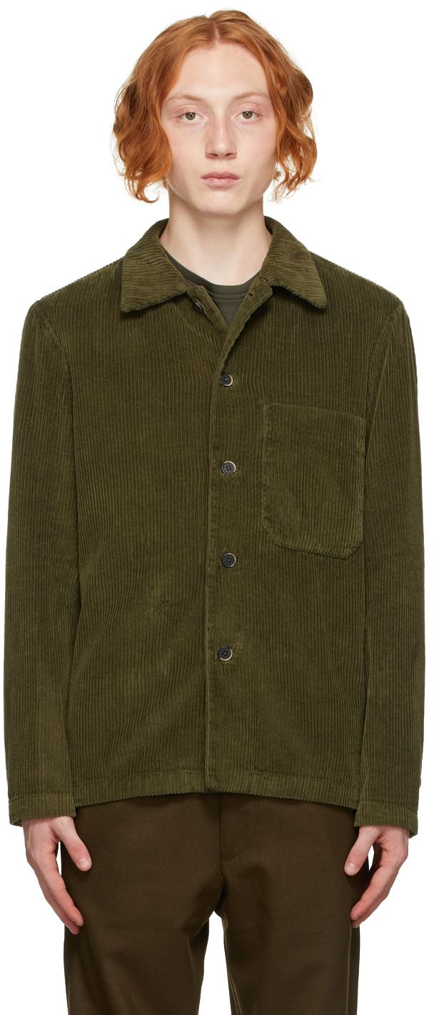 Khaki Corduroy Overshirt Jacket