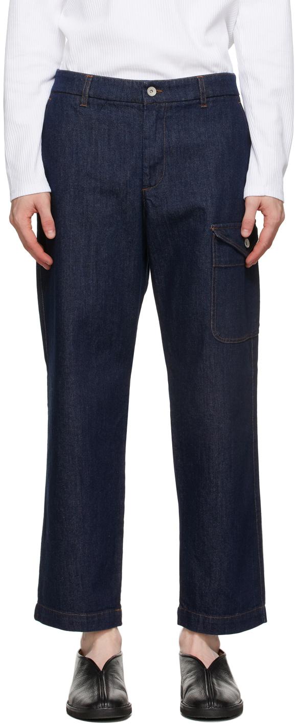 Navy Cargo Jeans