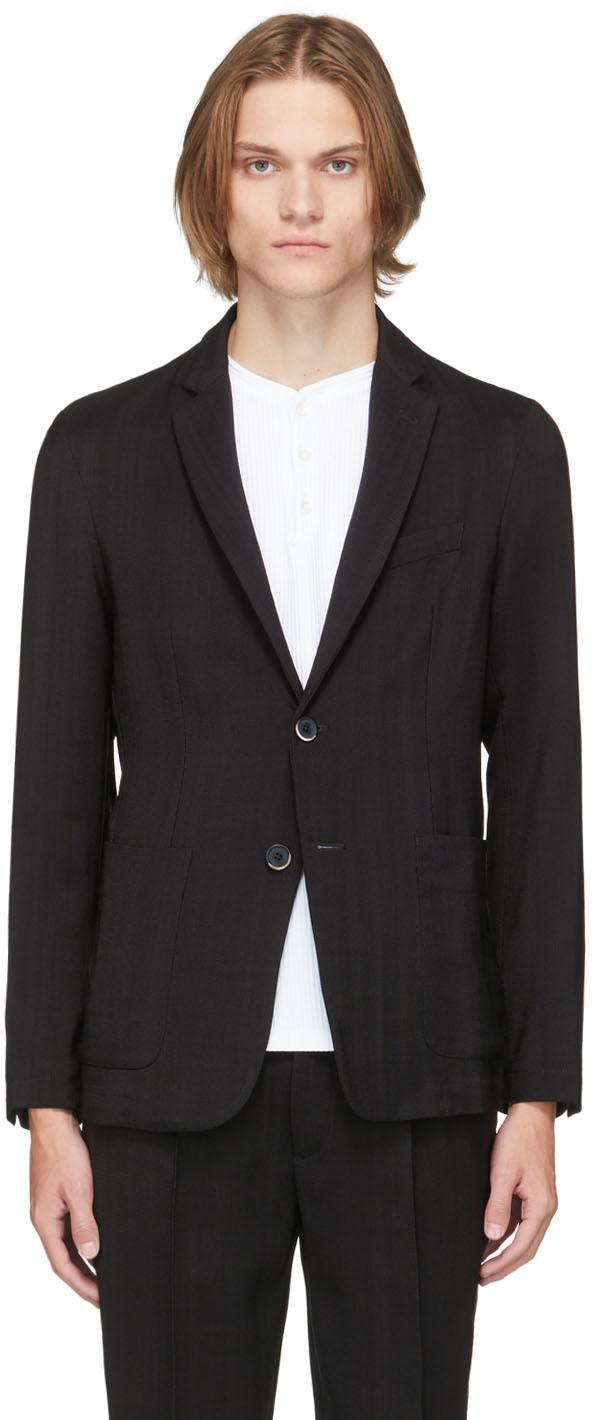 Black Wool Piero Telino Blazer