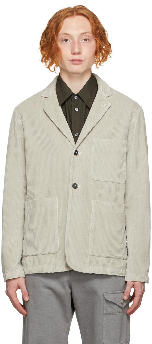 Grey Corduroy Blazer