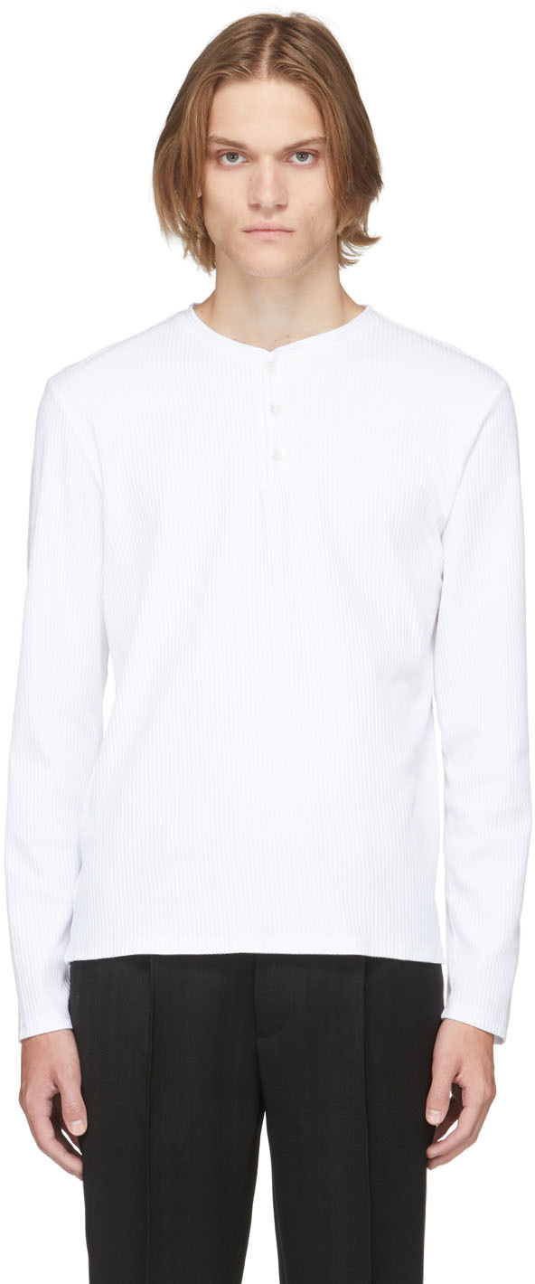 White Jersey Long Sleeve T-Shirt