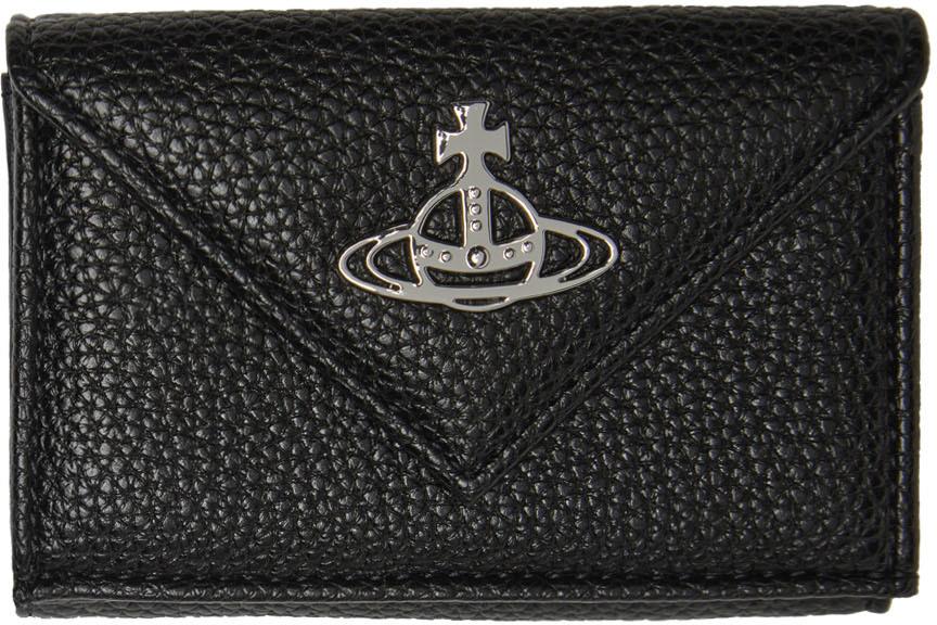 Black Johanna Grain Envelope Billfold Wallet